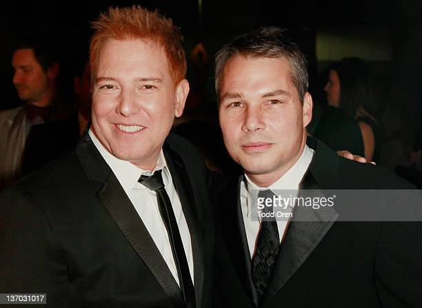 Relativity Media's Ryan Kavanaugh and artist Shepard Fairey arrive at Audi presents The Art of Elysium's 5th annual HEAVEN at Union Station on...