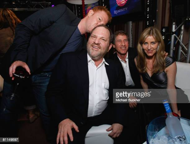 Relativity Media's Ryan Kavanaugh Harvey Weinstein Jon Feltheimer and Laurie Feltheimer attend the Relativity Media Cocktail Party at Nikki Club...