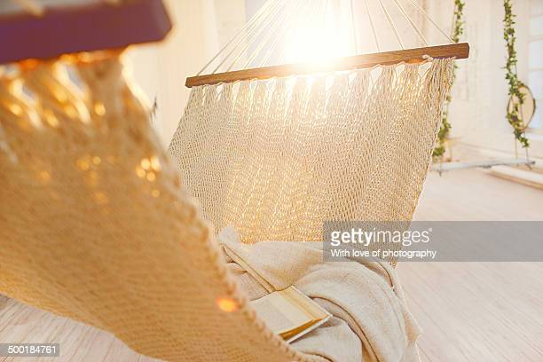 Relaxation athmosphere in a hammock