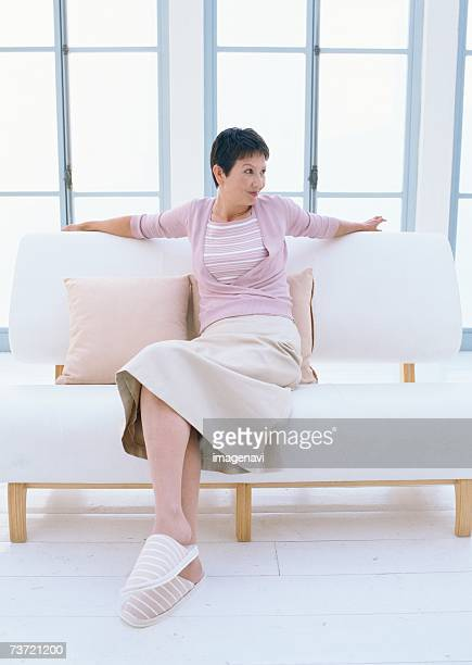 relaxation image - older women in short skirts stock pictures, royalty-free photos & images
