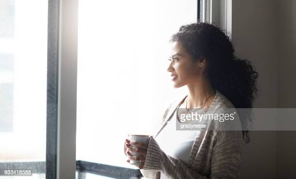 relaxation mixed with contemplation - hot latina women stock photos and pictures