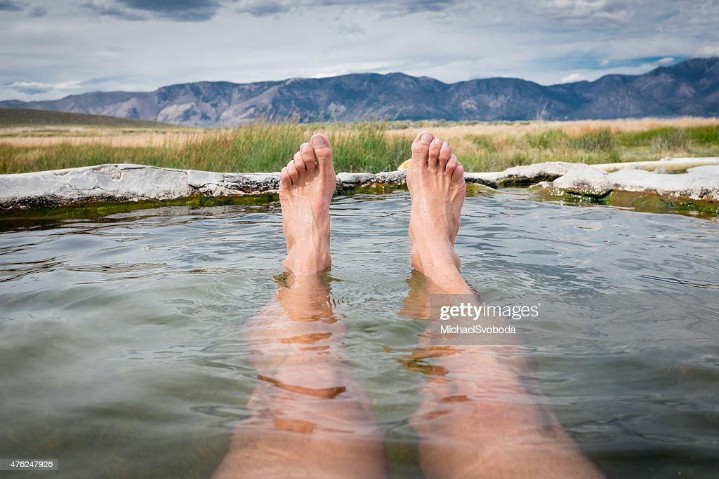 Relaxation Natural Hot Springs : Stock Photo
