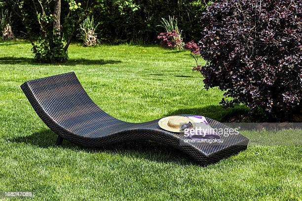 relaxation - chaise longue stock photos and pictures