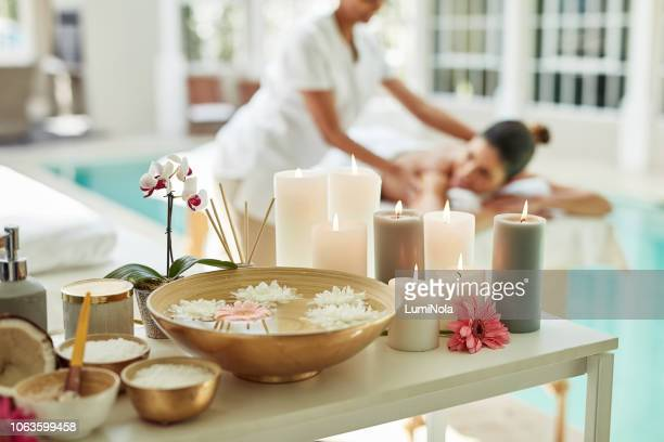 relaxation starts now - massage stock pictures, royalty-free photos & images