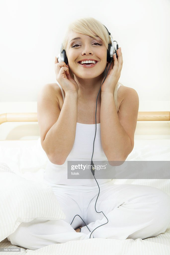 Relaxation with music : Stock Photo