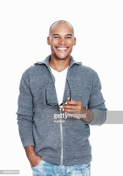 Relaxed African American man smiling