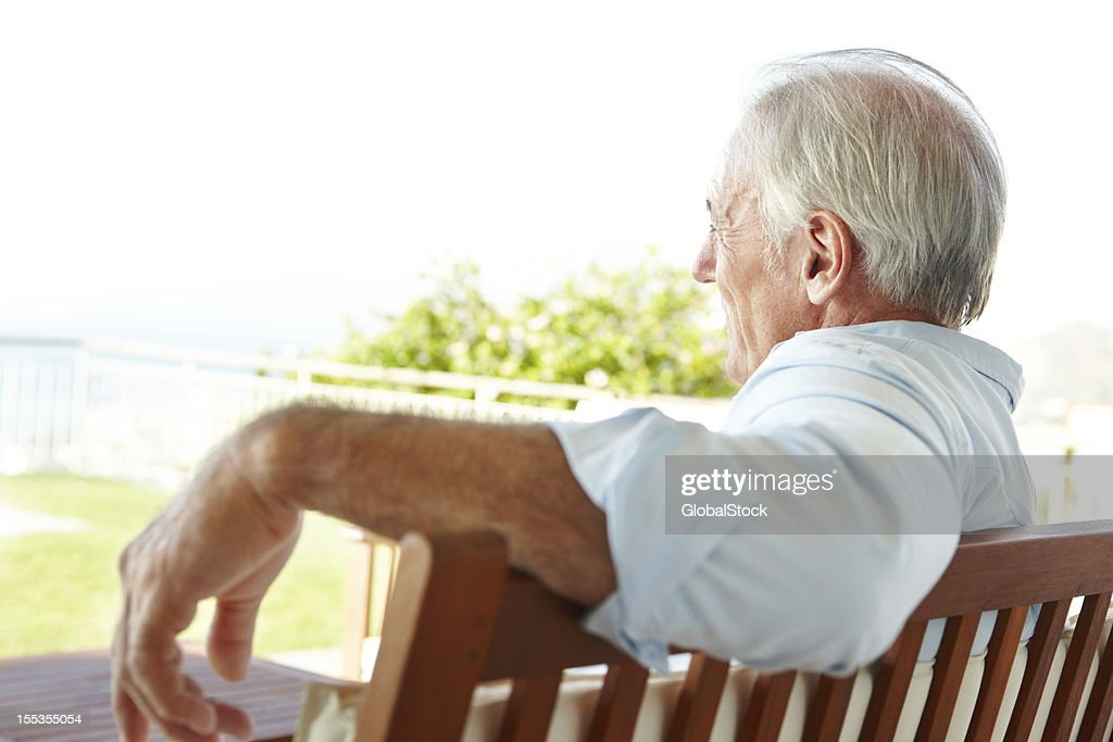 Relaxed and enjoying the view : Stock Photo