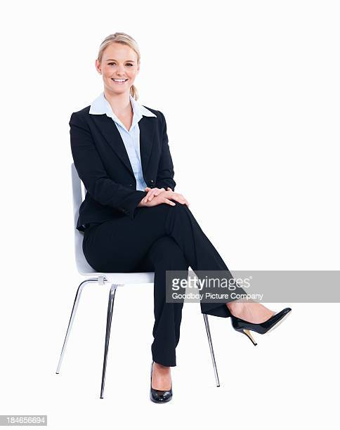 Relaxed business woman on chair