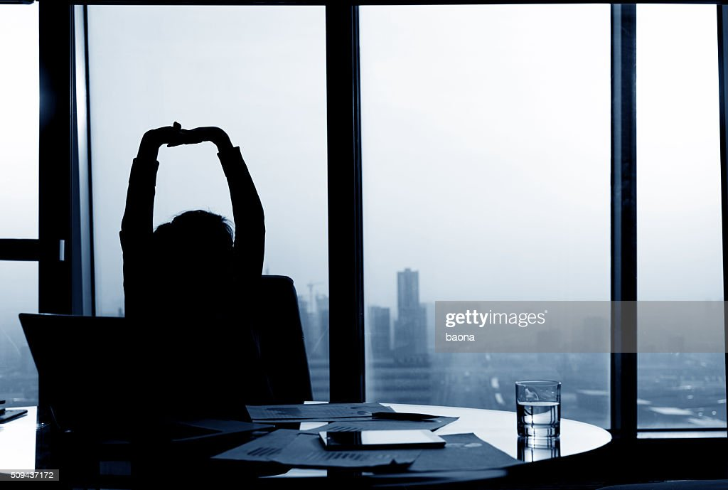 Relaxed Businesswoman : Stock Photo