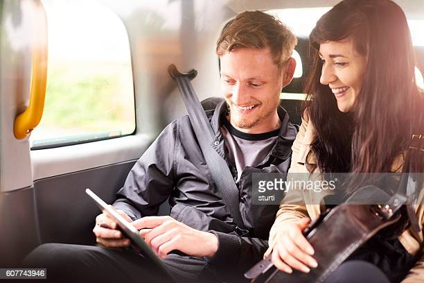 relaxed cab couple