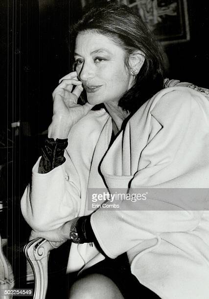 Relaxed chic French actress Anouk Aimee in Toronto for the opening of Creeds' Ungaro boutique is the star of the designer's advertising campaign