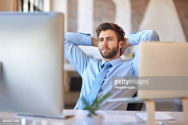 Entspannten Tag im Büro