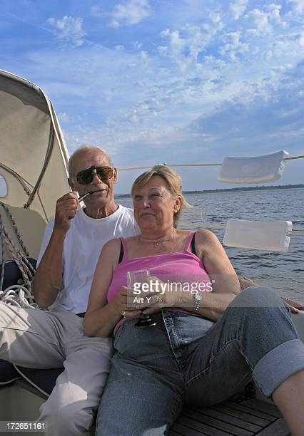 relaxed elderly couple - hairy old man stock pictures, royalty-free photos & images