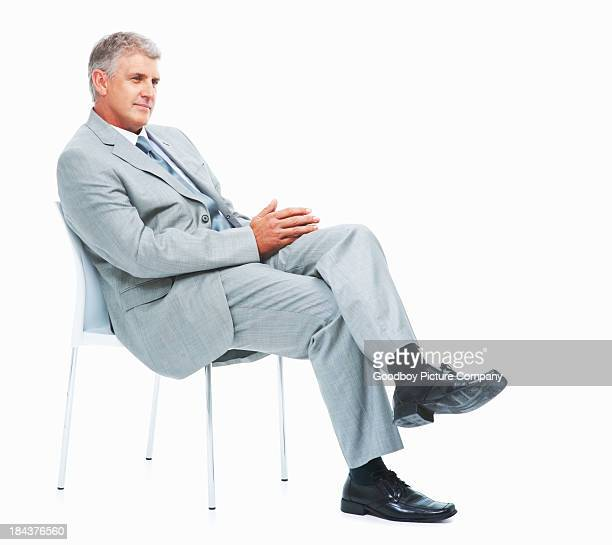 Relaxed executive on chair