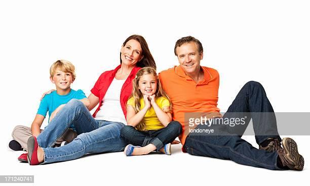 Entspannte Familie-isoliert
