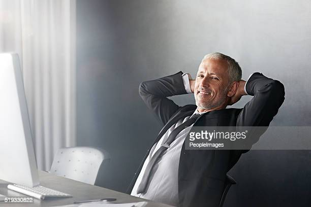 Relaxed in his management role