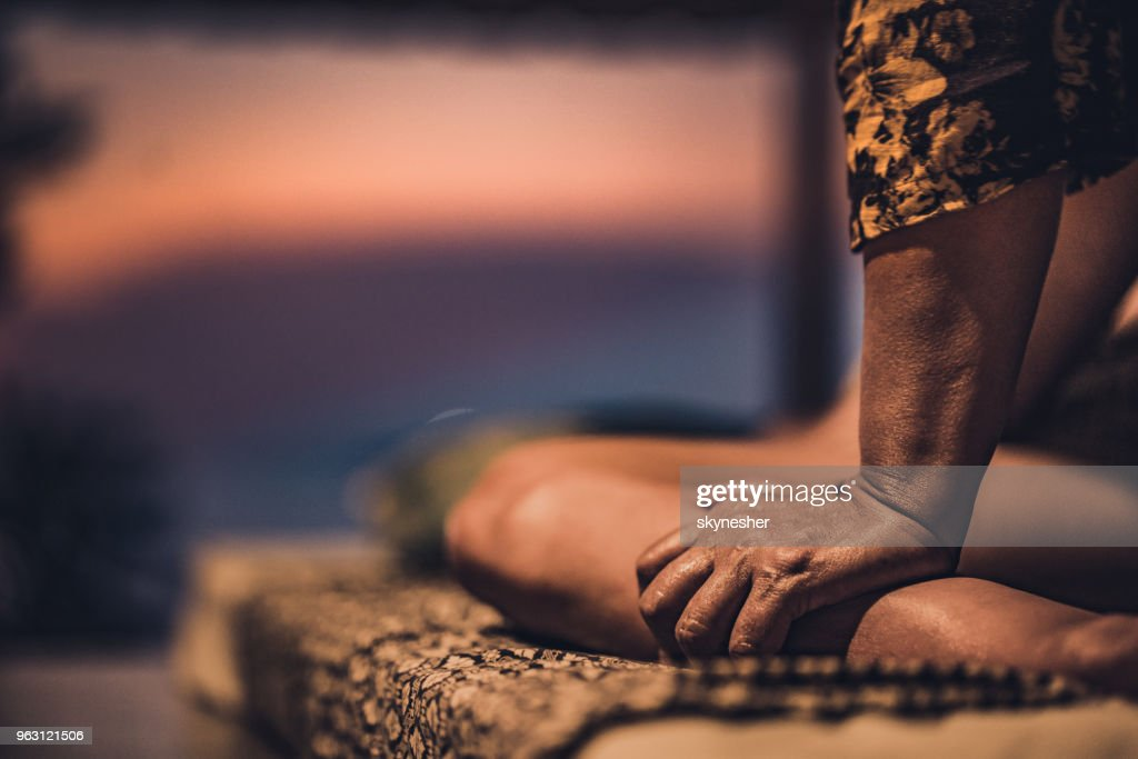 Relaxed leg massage at the spa! : Stock Photo