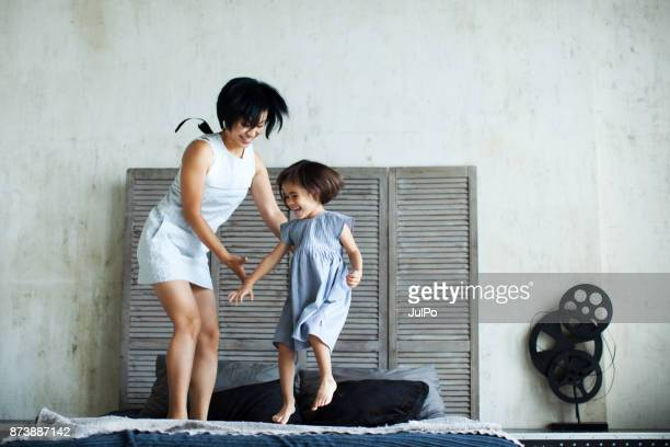 relaxed parenting - happy family stock photos and pictures