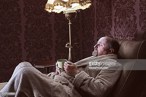 relaxed - reclining chair stock photos and pictures