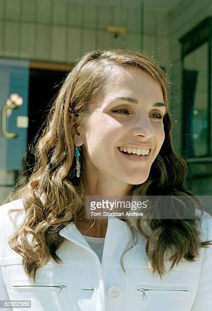 A relaxed Queen Rania photographed in Amman Jordan Queen Rania AlAbdullah was born in Kuwait on August 31 1970 Queen Rania married King Abdullah bin...