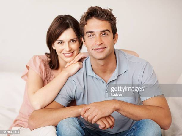 Relaxed young couple spending time together