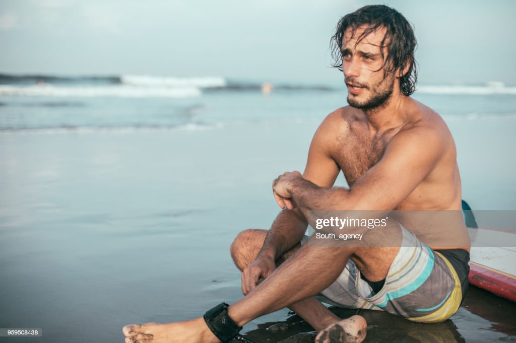 Entspannung nach dem Surfen : Stock-Foto