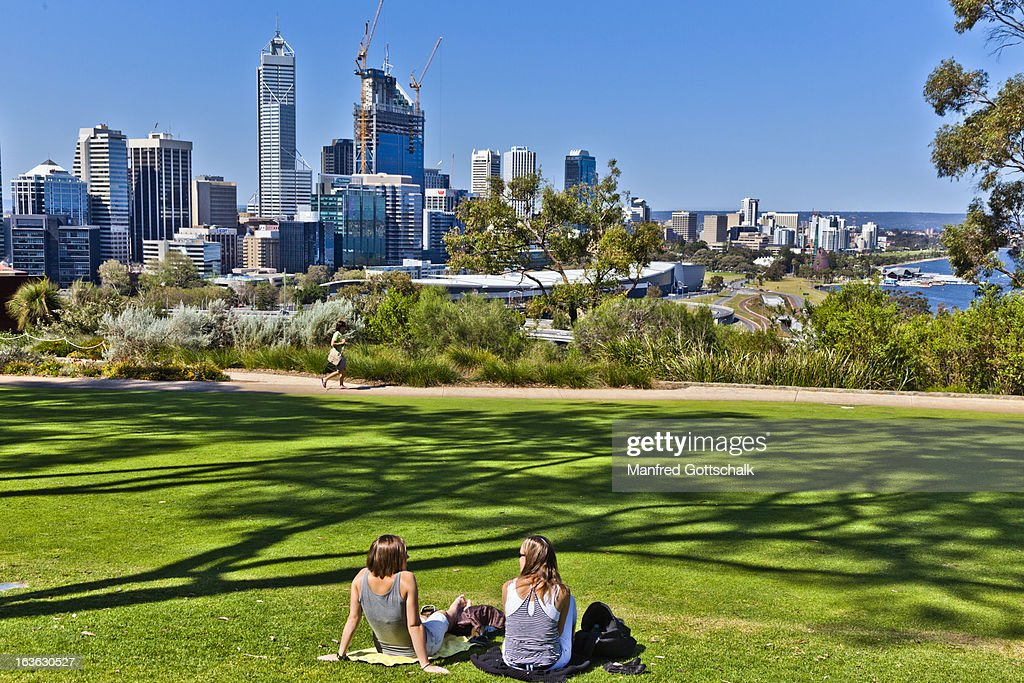 Relaxing At Kings Park Perth Stock Photo - Getty Images