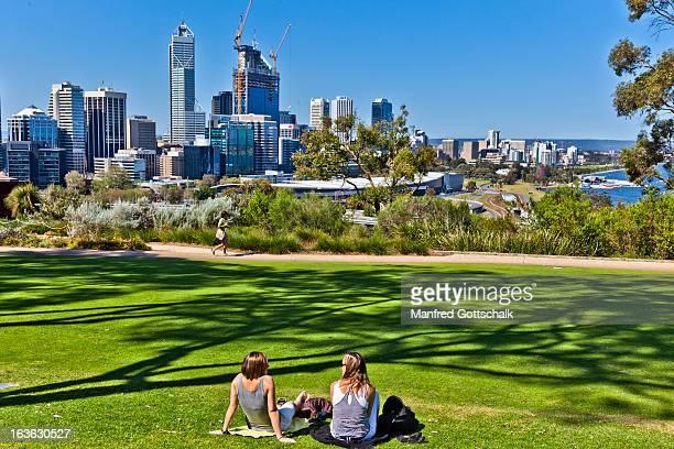 Relaxing at Kings Park Perth