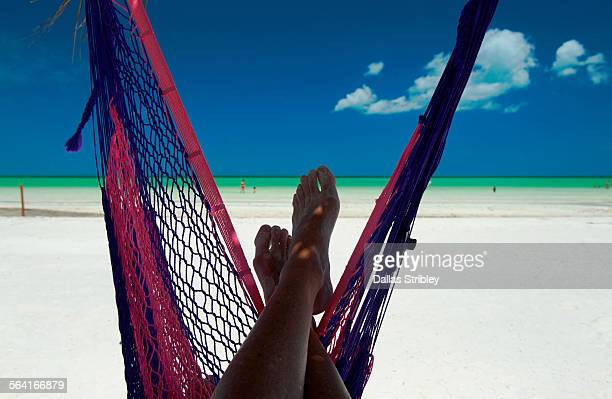 Relaxing at the beach on Holbox Island, Mexico
