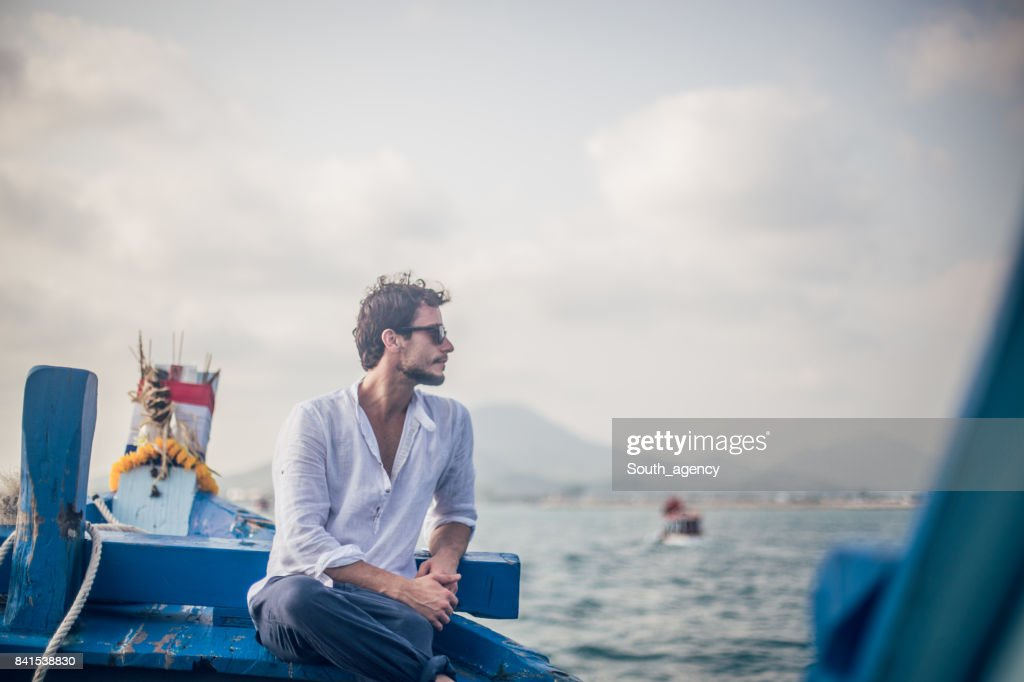 Relaxing boat ride : Stock Photo