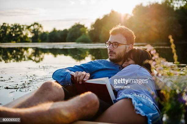 Relaxing canoe ride