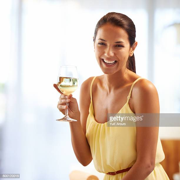 Relaxing evening with a glass of wine