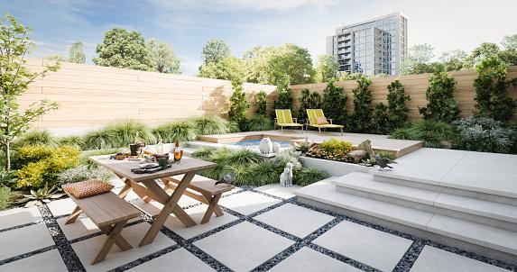 Relaxing Exterior Garden 1157558631