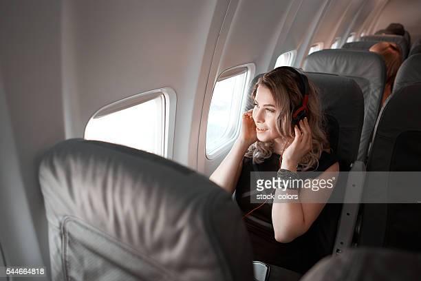 Entspannende Flug mit guter Musik