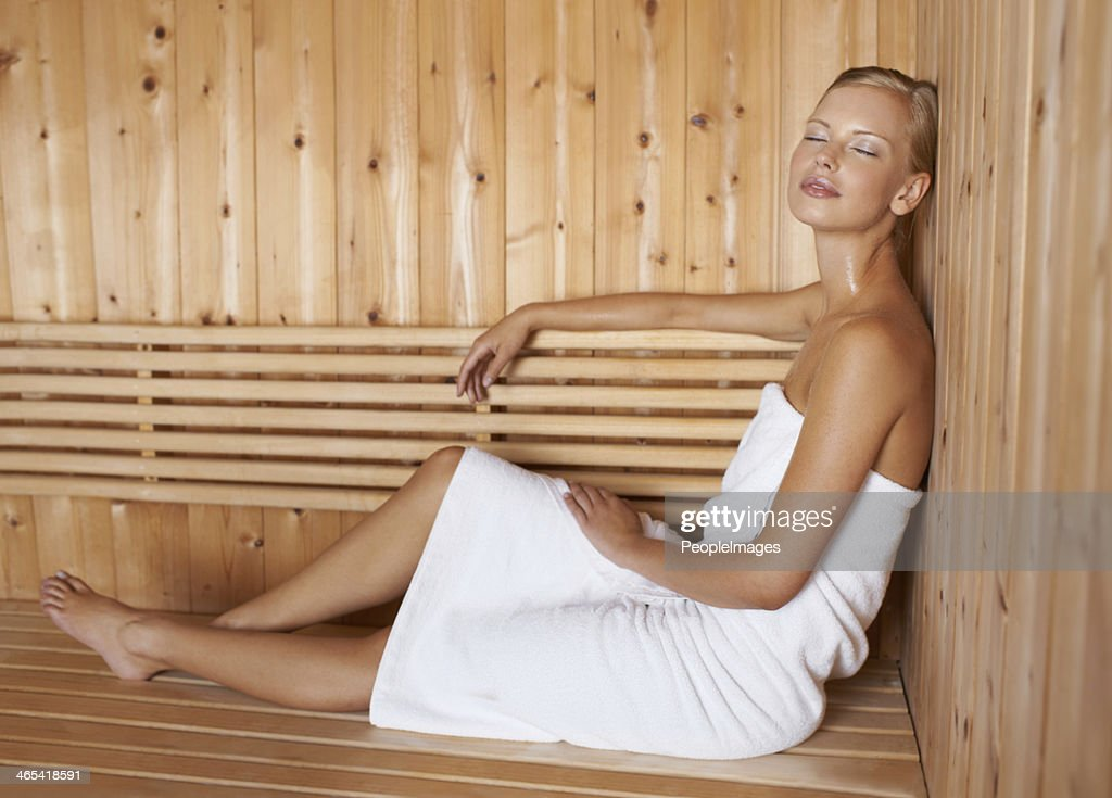Relaxing her mind and body : Stock Photo