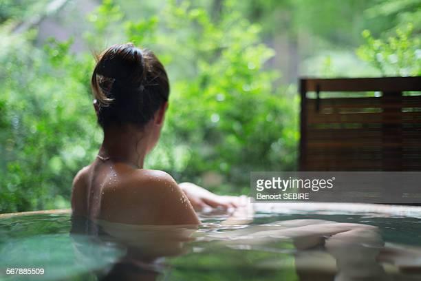 Relaxing hot spring