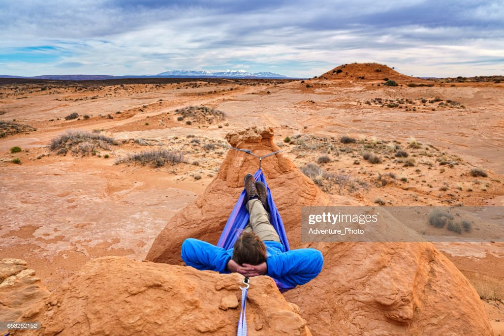 Relaxing in Hammock Canyon Country : Stock Photo