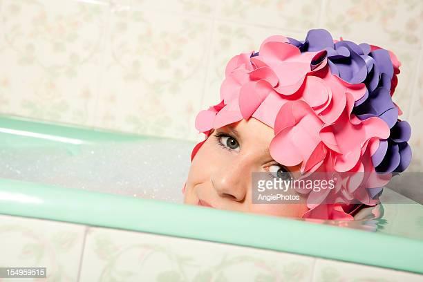 Entspannen Sie in der Badewanne