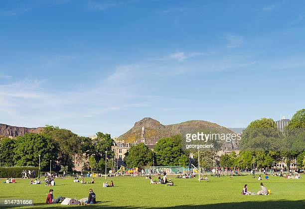 Relaxing in The Meadows, Edinburgh