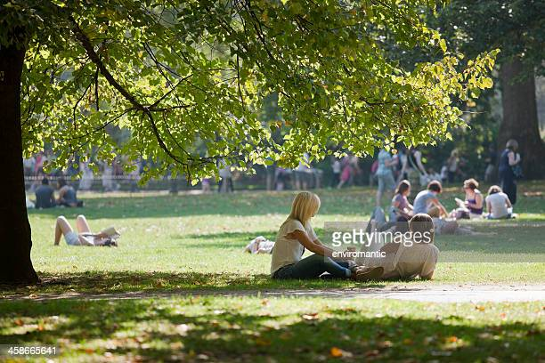 relaxing in the park. - public park stock pictures, royalty-free photos & images