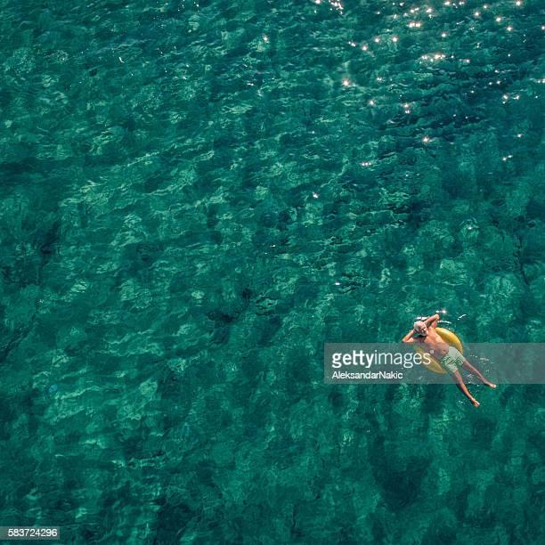 Entspannen Sie sich im Meer