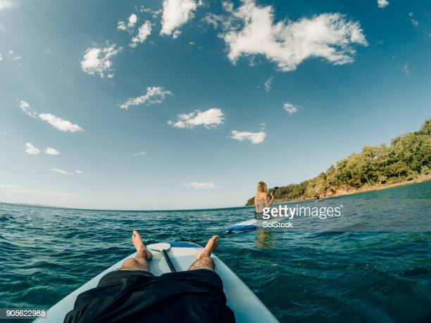 relaxing in the sea - sunshine coast australia stock pictures, royalty-free photos & images