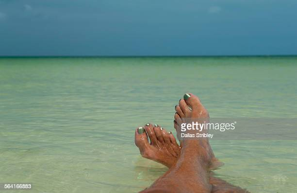Relaxing in the shallows, on Holbox Island