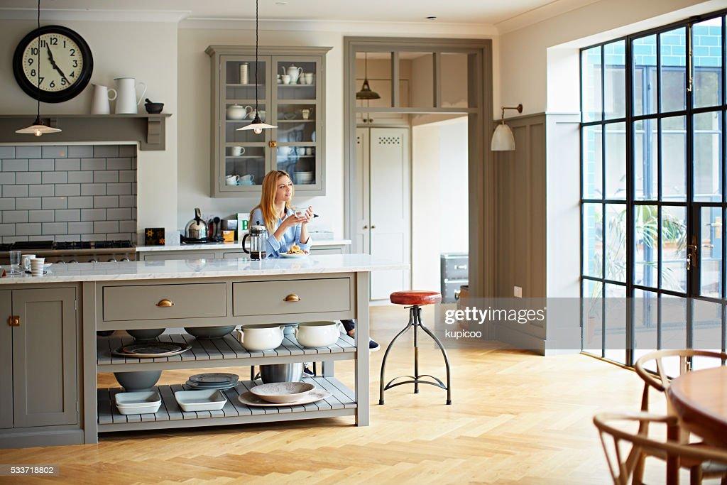 Relax per la giornata con la prima colazione : Foto stock