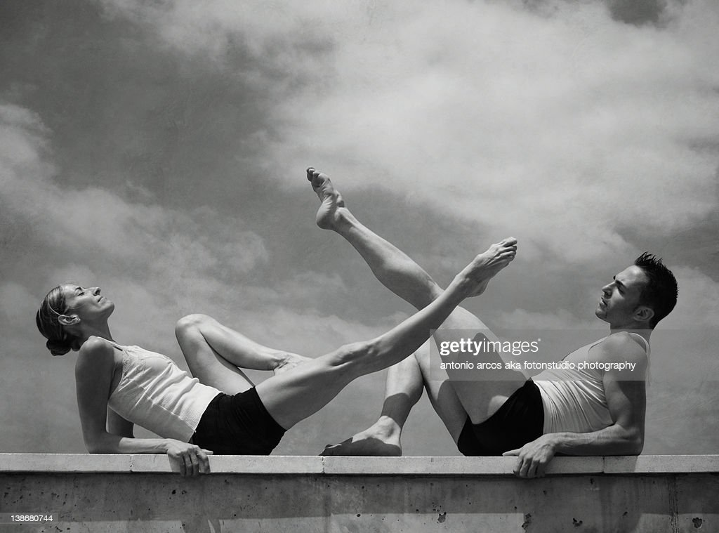 Relaxing legs,grace and strenght. : Foto stock