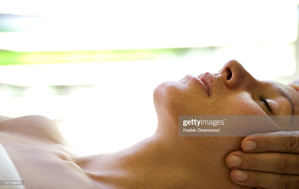 Relaxing massage. : Stock Photo
