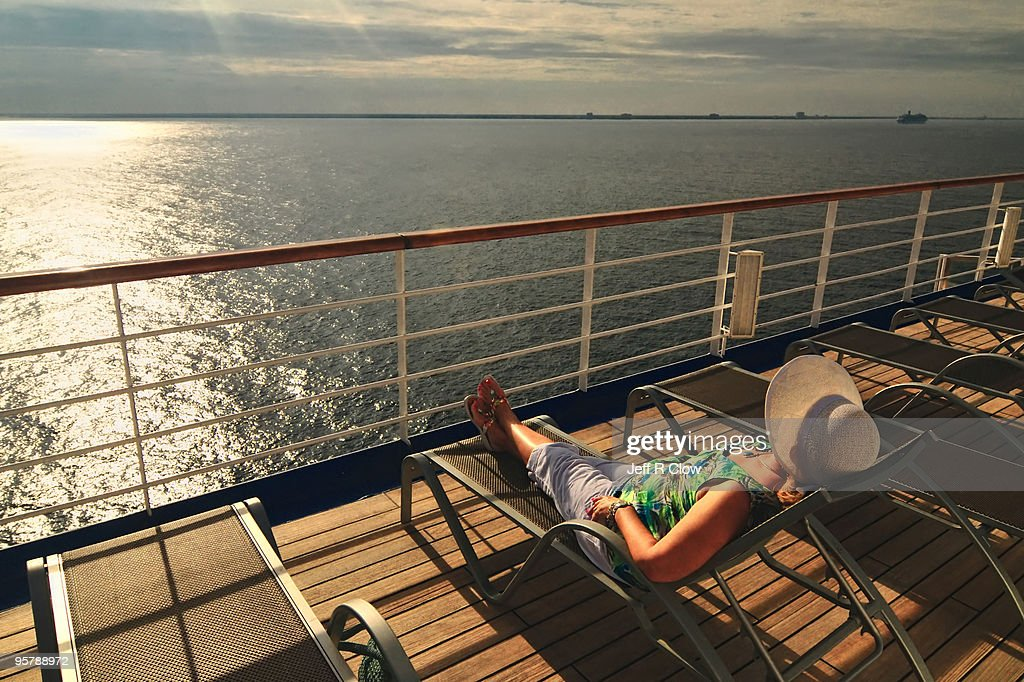 A Relaxing Morning at Sea : Stock Photo
