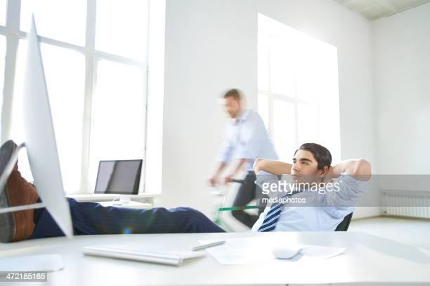 Relaxing office break