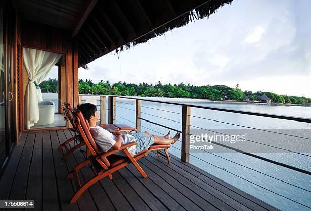 Entspannen Sie im Liegestuhl des Beach House-XL