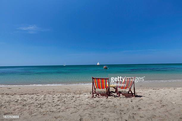 relaxing on the beach. - foldable stock pictures, royalty-free photos & images
